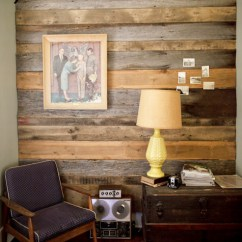 Picture Frame Moulding Under Chair Rail Best Office Chairs For Lower Back Pain Before & After: Austin's Barn Wood Wall + Bear's – Design*sponge