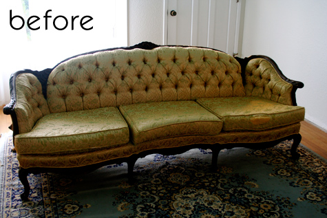 before  after faux leather sofa  campaign dresser  DesignSponge