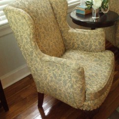 Chair Upholstery Cost And Stool Store Before & After: Reupholstered Wingback Chairs – Design*sponge