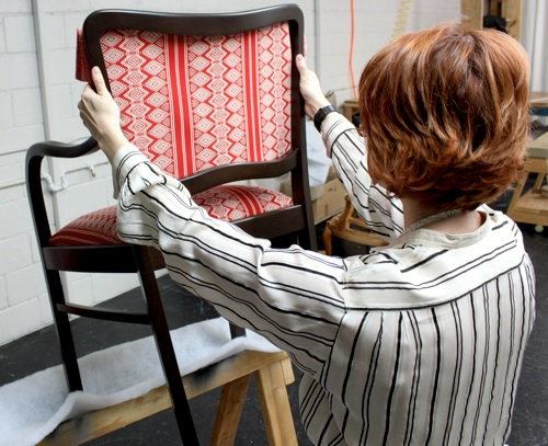 how to replace cane back chair with fabric lime green office upholstery basics picture perfect backs design sponge when you re happy the placement begin removing sub staples and permanent that go all way in