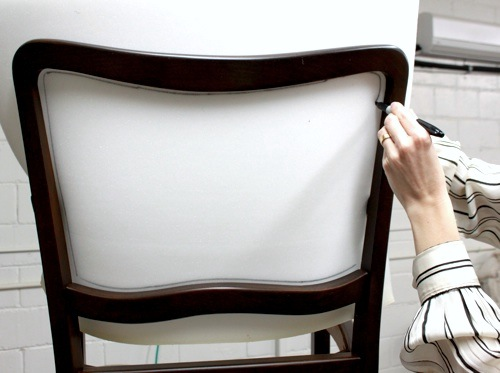 how to replace cane back chair with fabric folding makeover upholstery basics picture perfect backs design sponge 3 after you ve traced the foam use carving knife cut on line we ll as a pattern get rest of materials need