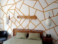DIY Project: Geometric Painted Wall  Design*Sponge