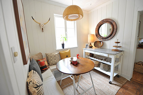 Before  After A Breakfast Nook Seriously Lightens Up
