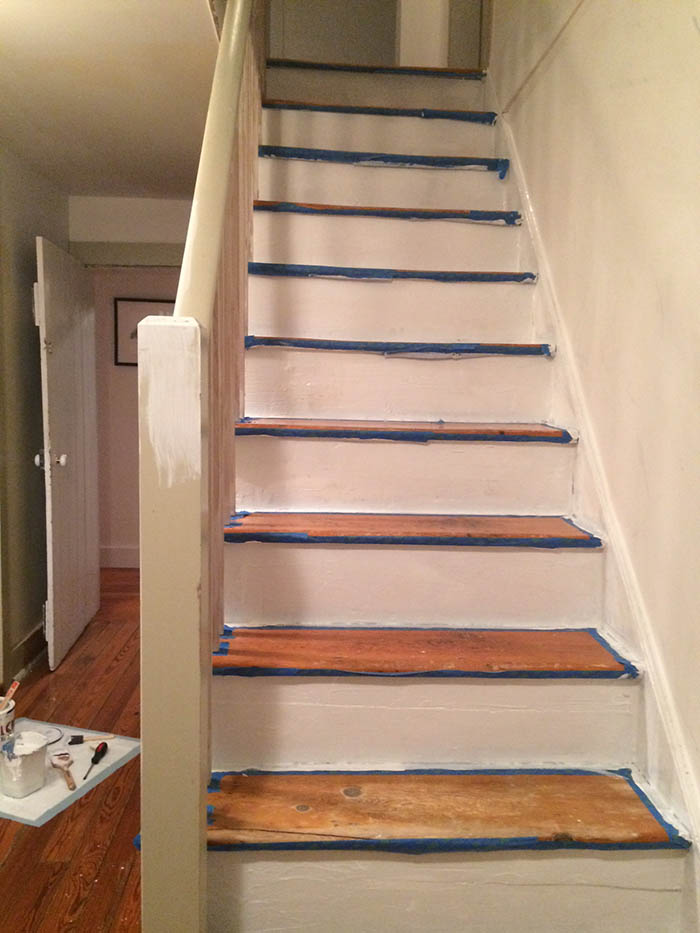 Our DIY Stair Makeover Paint  Runner  DesignSponge