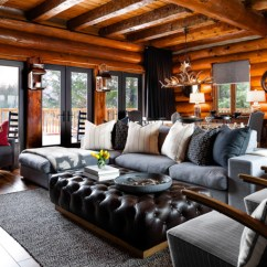 Black Leather Sofa Design Ideas Extra Large Bed Cabin Pressure: Colin & Justin's Canadian Cottage ...