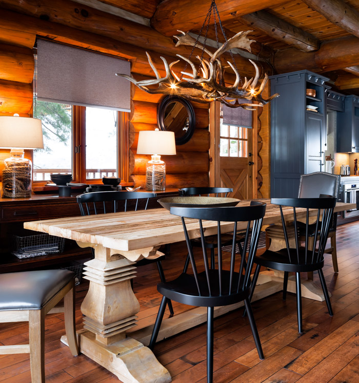 black leather sofa in living room london cabin pressure: colin & justin's canadian cottage ...