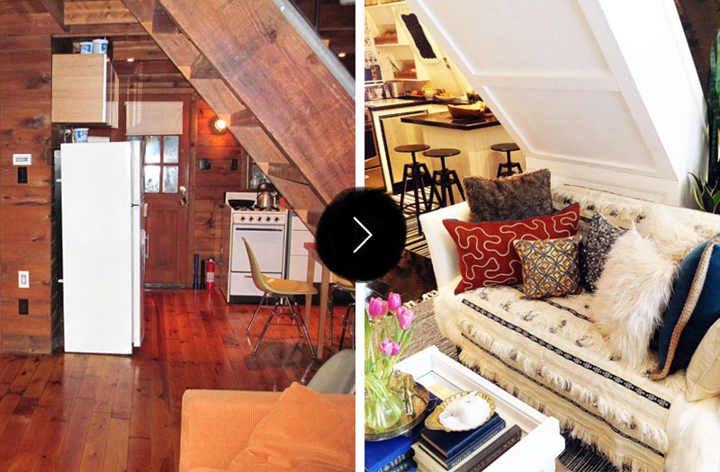 Before  After An AFrame Cottage Gets an A Renovation
