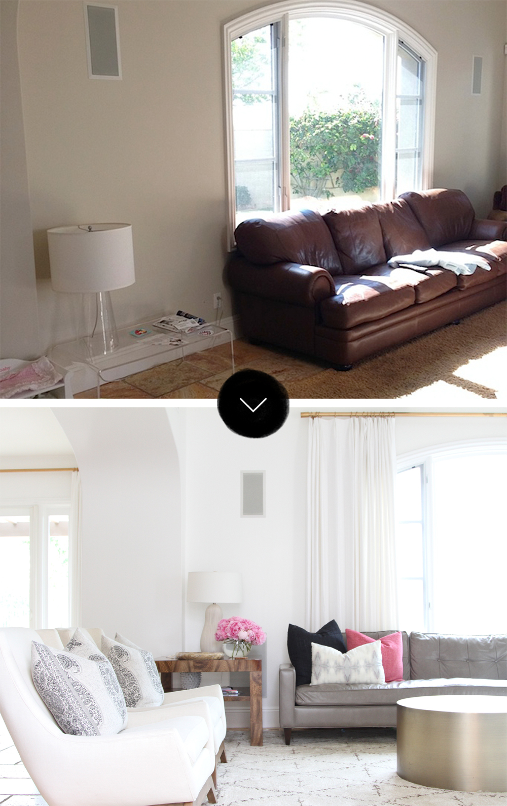 Before After A San Clemente Tuscan Tract House Design