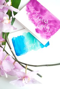 DIY Watercolor Thank You Cards  Design*Sponge