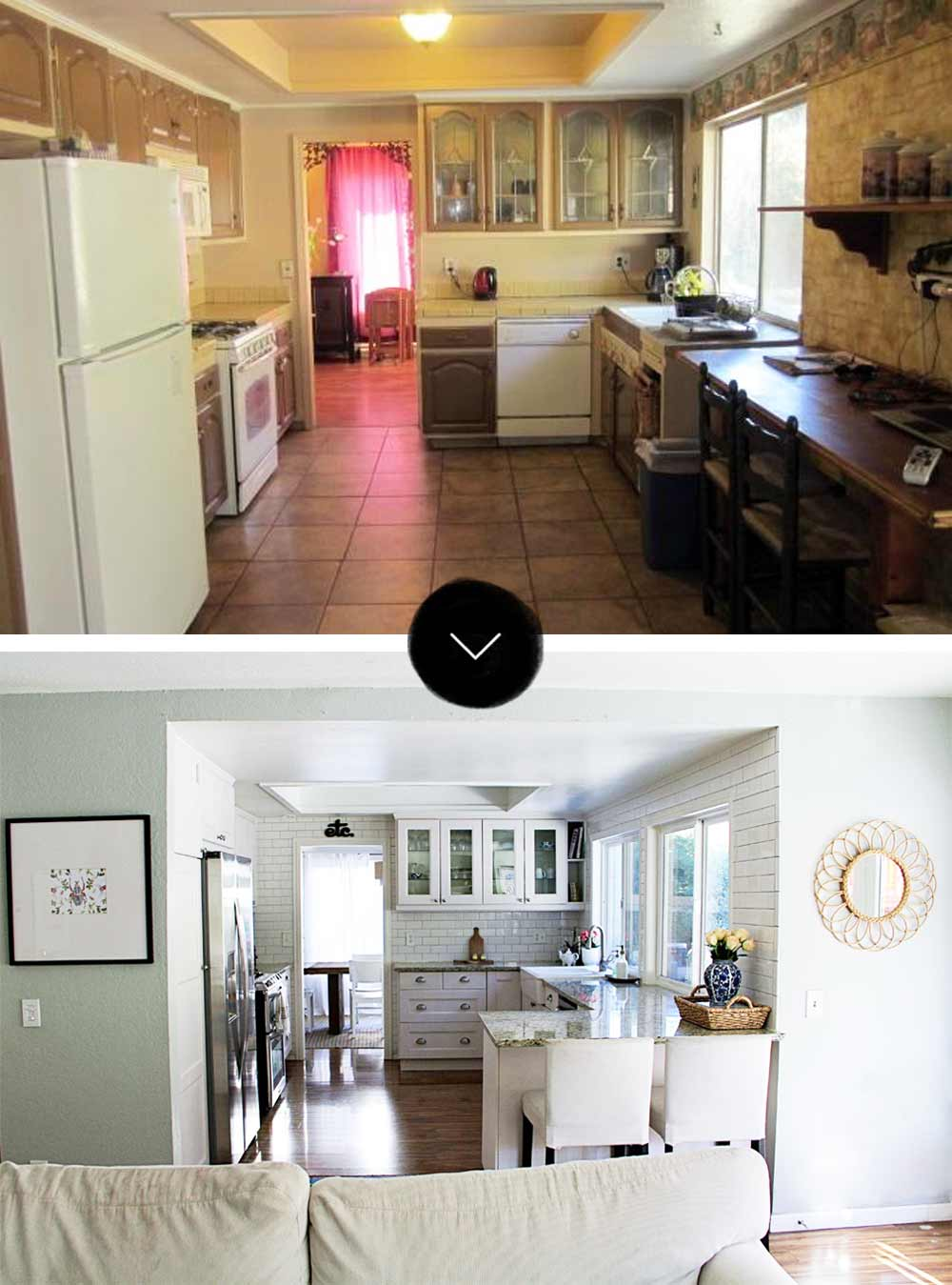 Before  After A ModernBohemian FixerUpper in Southern California  DesignSponge