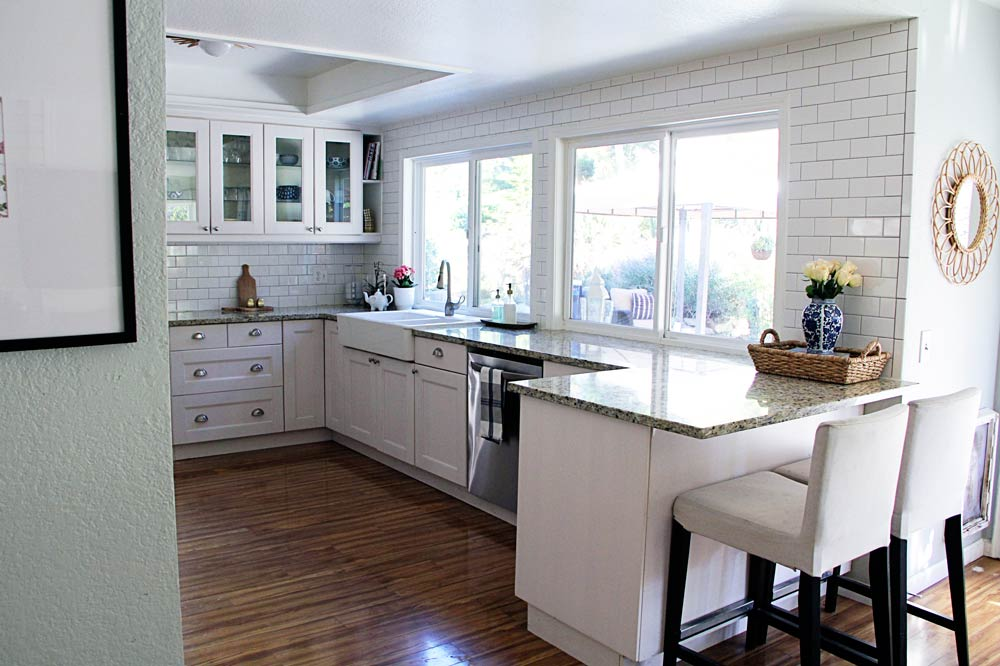 breakfast nooks for small kitchens kitchen door hinges before & after: a modern-bohemian fixer-upper in southern ...