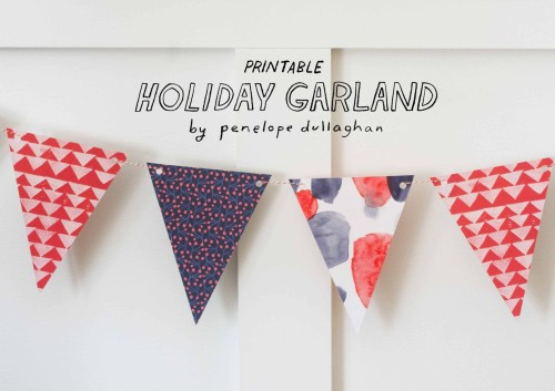 Printable Freebie: Holiday Garland, Design*Sponge