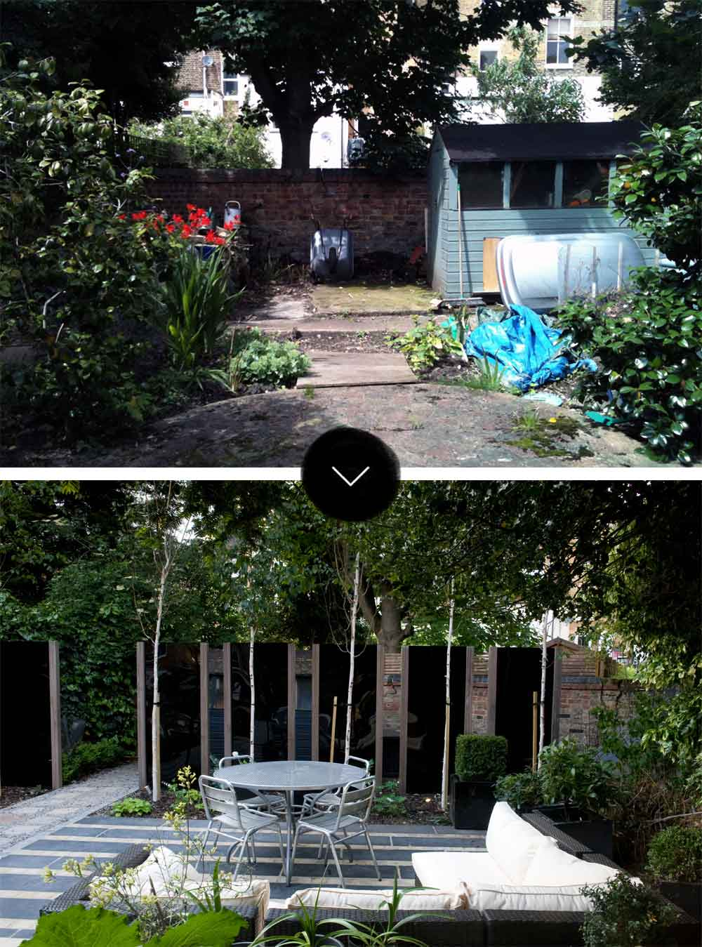 Before  After A Modern Japanese Garden in North London