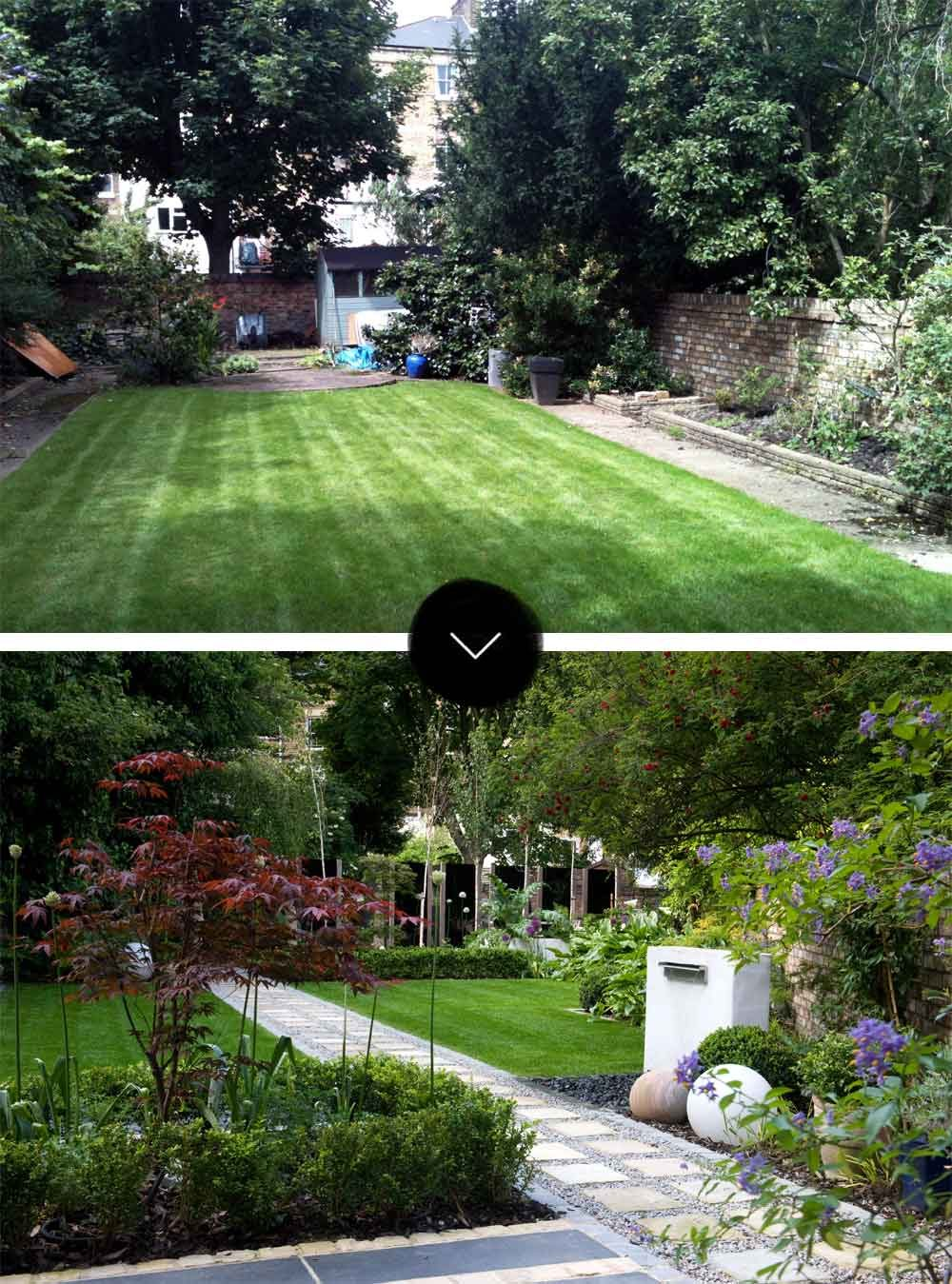 Before Amp After A Modern Japanese Garden In North London