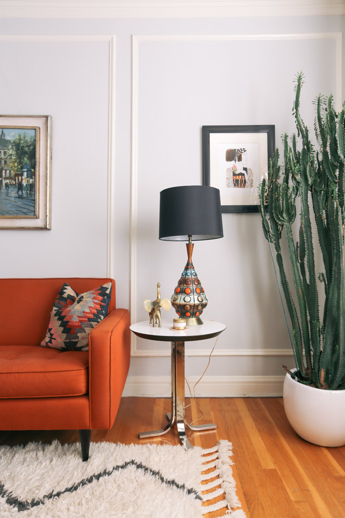 burnt orange living room ideas large couches 14 ways to add texture and color a with cacti ...