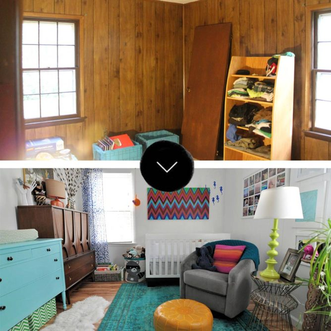 Before & After: Two Bedrooms Go from Dark to Doused in Color