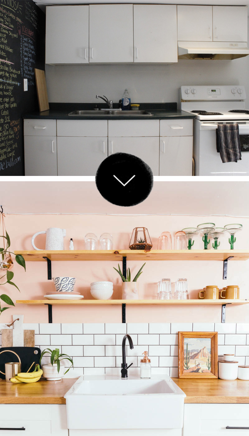 Before & After A Toronto Rental's Peachy Kitchen Remodel – Design