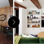 Before After A Dated Basement Family Room Gets A Bright White Remodel Design Sponge