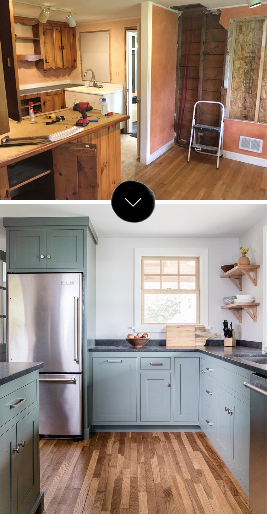 Before & After A Dated Kitchen Rebuilt With Impeccable