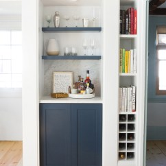 Living Room Shelves And Cabinets Country Decorating Ideas For Rooms Before & After: A Tricky Staircase Becomes Sweet Built ...