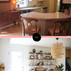 Flat Front Kitchen Cabinets Island Chairs For Before & After: An 80s Gets A Modern Scandinavian ...