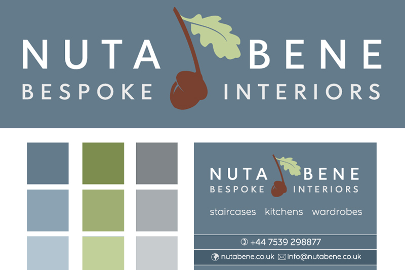 Nuta Bene logo design and website