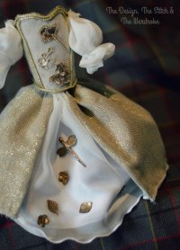 Outlander Wedding dress miniature , Claire wedding dress ...