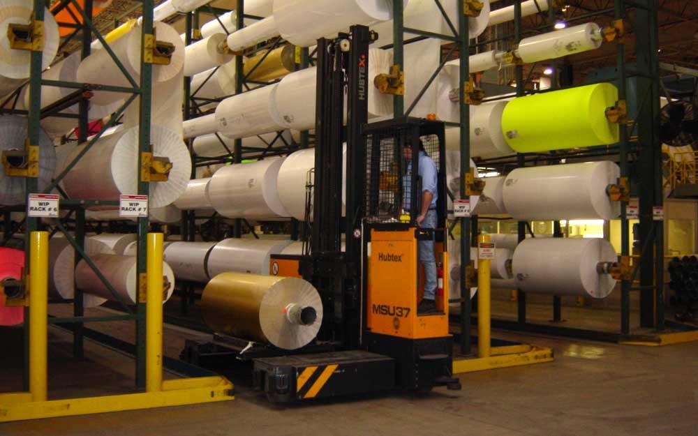 Material Handling For Rolled Paper Storage Racks, Paper Handling Trucks And  Equipment, Vertical Roll Storage, Plastic Rolls, Etc.