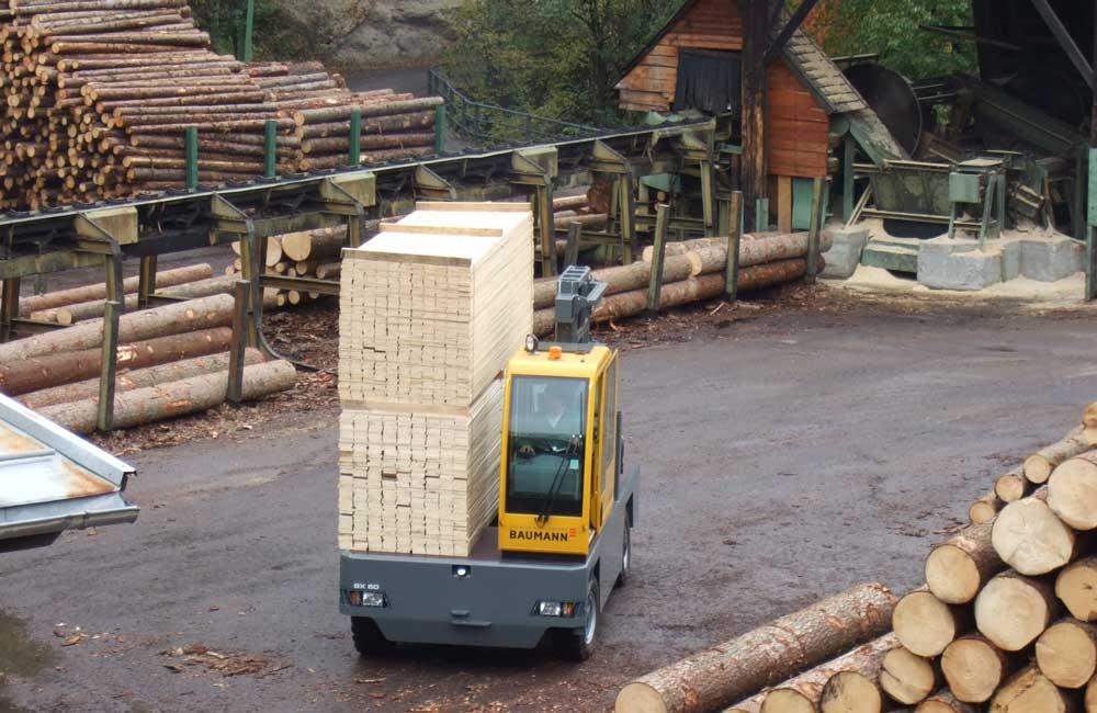 Lumber Material Handling Sideloaders For Transporting