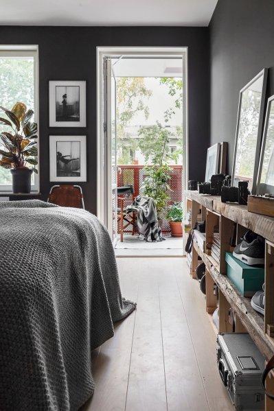 scandinavian bedroom design grey Dark Gray Scandinavian Interior Design – Scandinavian