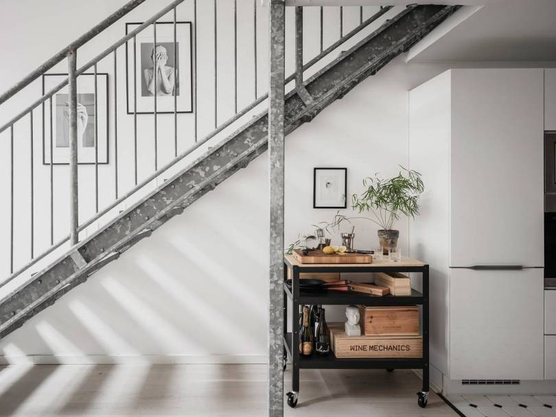 Scandinavian industrial staircase