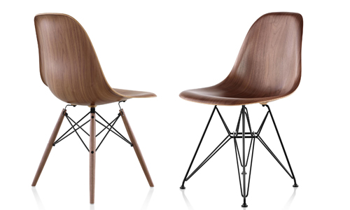 eames molded side chair modern chairs for bedroom plastic now in wood designswelove