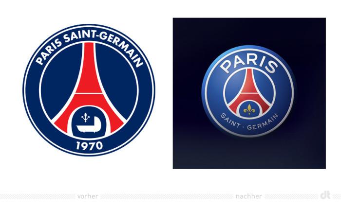 psg paris saint germain logo vorher