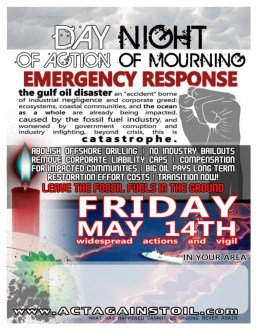 Flier: Day of Action, Night of Mourning