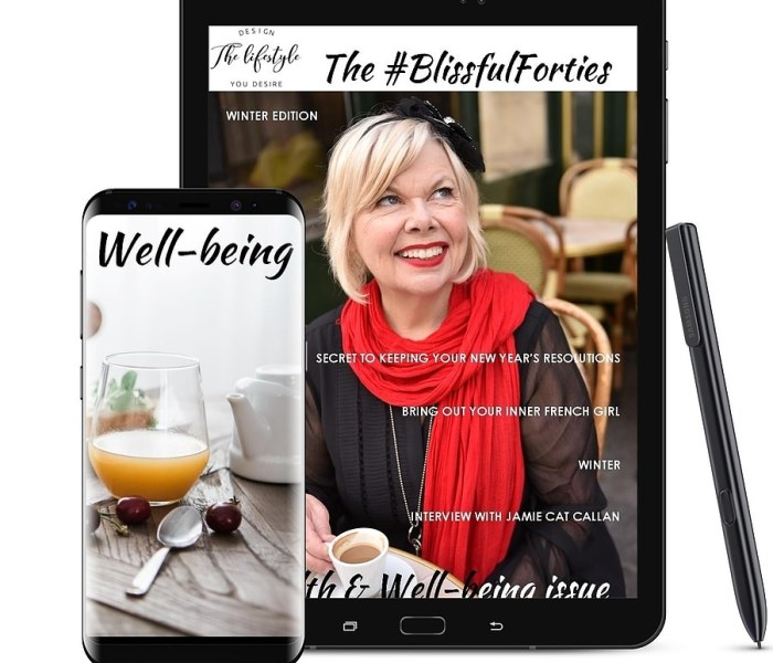 The #BlissfulForties Magazine – Winter Edition is LIVE