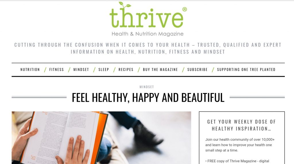As seen in - Thrive Magazine