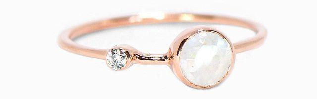 Moonstone Double Stone Ring