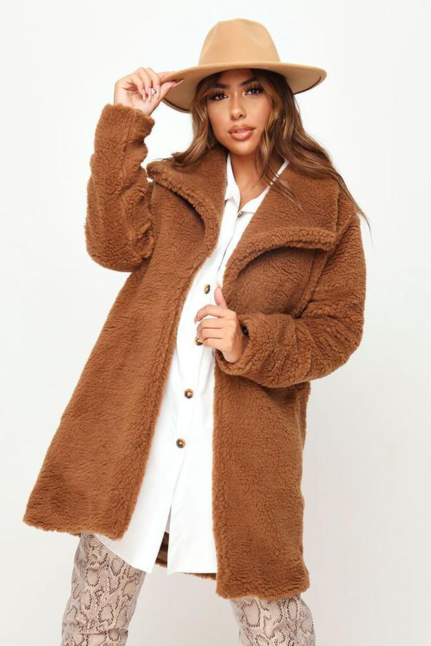 Camel Teddy Borg Jacket