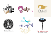 hair logo design designvamp