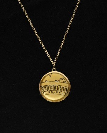 the royal crescent gold necklace moments collection design vaults
