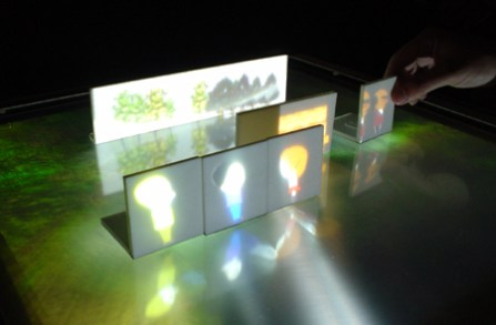 siggraph smart tangible interactive interface projections
