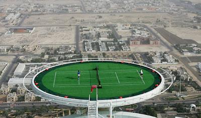 Burj Al Arab Tennis Court in the Sky  DesignVerb