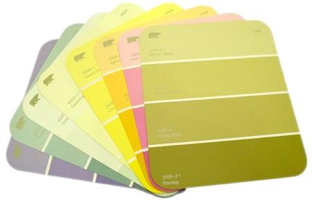 paint chip card holder DIY