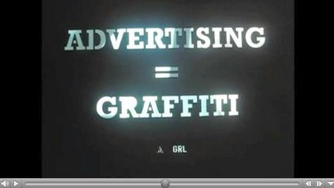 advertising graffiti