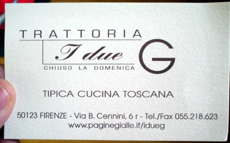 Florence i due G business card