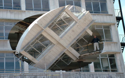 rotating wall scuplture