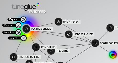 TuneGlue visual musicmap