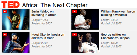 TED africa videos