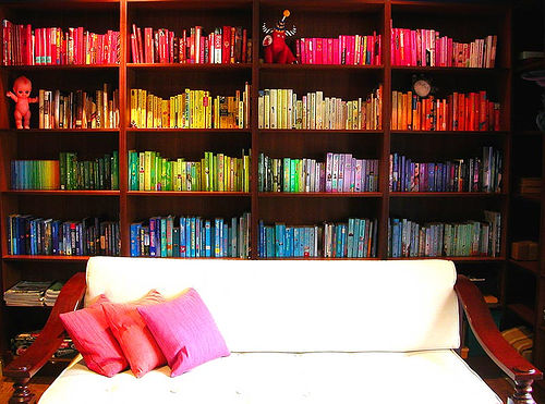 color organizing books