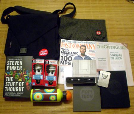 poptech 2007 Camden Maine Giftbag goodies